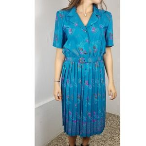 Vintage 60's Leslie Fay Blue Dress